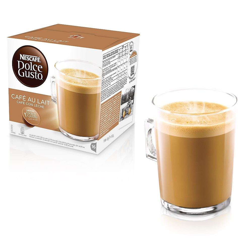 caf au lait coffee capsules nescaf dolce gusto. Black Bedroom Furniture Sets. Home Design Ideas